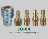"5 Pc 1/4"" ARO Coupler/Plug Kit (JQ-04)"