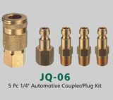 "5 Pc 1/4"" Automotive Coupler/Plug Kit  (JQ-06)"